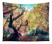 10 Abstract Japanese Maple Tree Tapestry