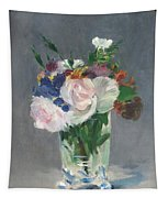 Flowers In A Crystal Vase Tapestry