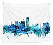 Indianapolis Indiana Skyline Tapestry