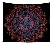 Kaleidoscope Image Created From Light Trails Tapestry