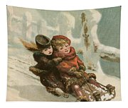 Vintage Christmas Card Tapestry