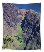 100173 Awaawapuhi Vally Na Pali Coast Tapestry