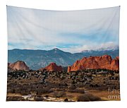 Garden Of The Gods And Pikes Peak Tapestry