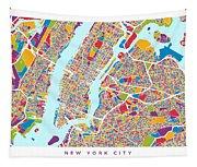 New York City Street Map Tapestry