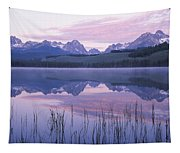 Reflection Of Mountains In A Lake Tapestry