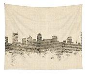 Nashville Tennessee Skyline Tapestry
