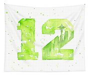 12th Man Seahawks Art Go Hawks Tapestry