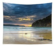 Cloudy Sunrise Seascape Tapestry