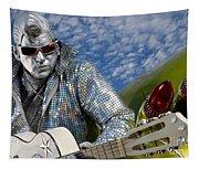 Silver Elvis Tapestry