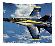 Navy Blue Angels Tapestry