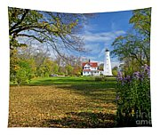 1406 North Point Lighthouse Tapestry
