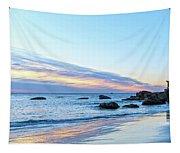 Rocky Daybreak Seascape Tapestry