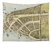 1660 New Amsterdam Map Tapestry