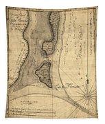 1765 Florida Coast Map Tapestry