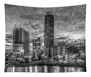 17th Street Dawn Atlantic Station Millennium Gate Art Tapestry