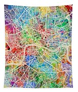 London England Street Map Tapestry