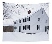 1800 White Colonial Home Tapestry