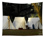 1800s Army Tents Tapestry