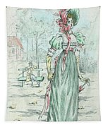 1801 Paris France Fashion Drawing Tapestry