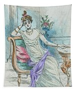 1804 Paris France Fashion Drawing Tapestry