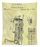 1845 Locomotive Patent Tapestry