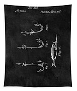 1867 Fishing Lure Patent Tapestry