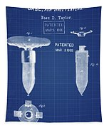 1868 Base For Baseball Players Patent In Blueprint Tapestry