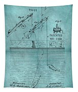 1868 Fishing Tackle Patent Blue Tapestry