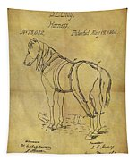 1868 Horse Harness Patent Tapestry