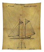 1869 Sailing Ship Patent Tapestry