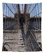 1875 Brooklyn Bridge Tower Color  Tapestry