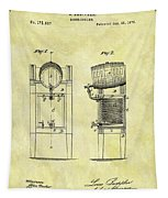 1876 Beer Cooler Patent Tapestry