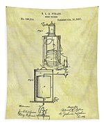 1881 Beer Cooler Patent Tapestry