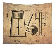 1889 Coffee Maker Patent Tapestry