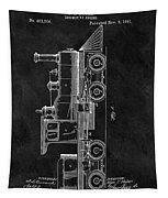 1891 Locomotive Engine Patent Tapestry