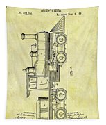 1891 Locomotive Patent Tapestry