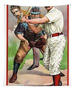 1895 In The Batters Box Tapestry