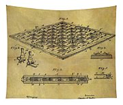 1896 Chess Set Patent Tapestry