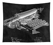 1896 Typewriter Patent Illustration Tapestry