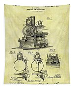 1898 Locomotive Patent Tapestry