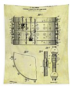 1900 Band Drum Patent Tapestry