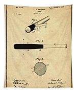 1902 Baseball Bat Patent In Sepia Tapestry