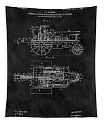 1903 Tractor Blueprint Patent Tapestry