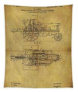1903 Tractor Patent Tapestry