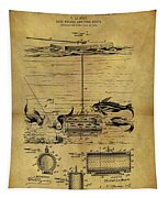 1904 Fishing Decoy Patent Tapestry