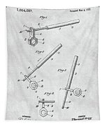 1913 Wrench Patent Illustration Tapestry