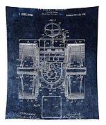 1916 Tractor Illustration Tapestry