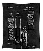 1921 Barber Pole Illustration Tapestry