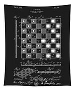 1923 Checkers And Chess Board Tapestry