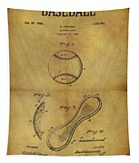 1924 Baseball Patent Tapestry
